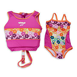Aqua Leisure® Girls' 2-Piece Swim Trainer in Pink
