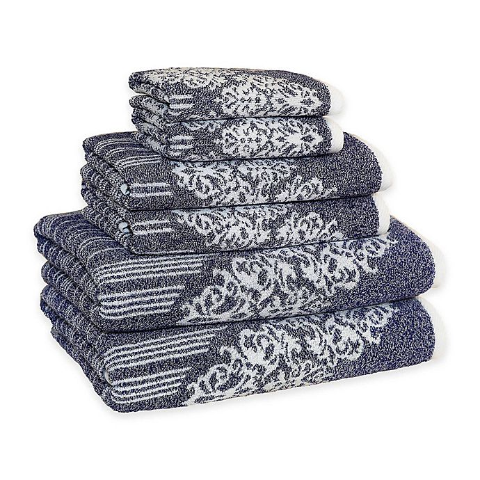 Alternate image 1 for Linum Home Textiles Gioia Turkish Cotton Bath Towels (Set of 6)