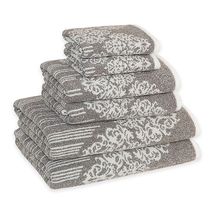 Alternate image 1 for Linum Home Textiles Gioia Cotton Bath Towels in Vintage Brown (Set of 6)