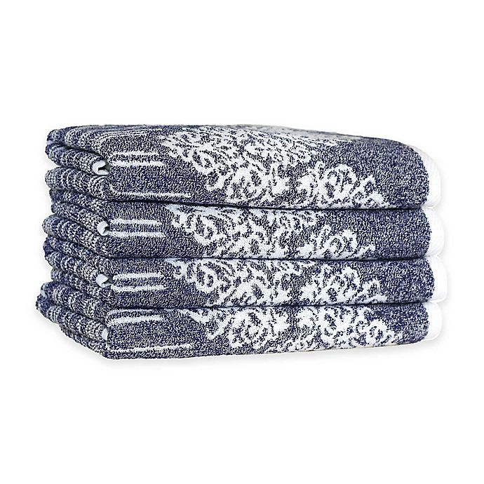 Alternate image 1 for Linum Home Textiles Gioia Turkish Cotton Hand Towels (Set of 4)