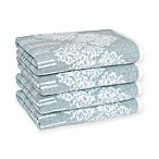 Linum Home Textiles Gioia Turkish Cotton Hand Towels in Soft Aqua (Set of 4)