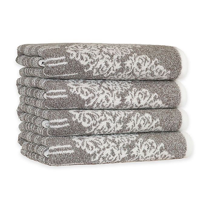 Alternate image 1 for Linum Home Textiles Gioia Turkish Cotton Hand Towels in Vintage Brown (Set of 4)