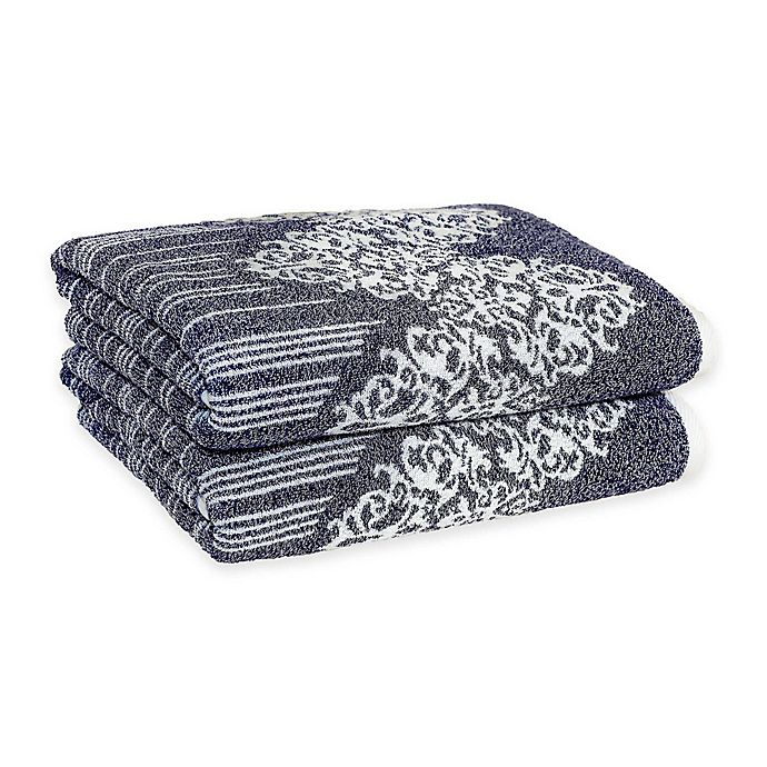 Alternate image 1 for Linum Home Textiles Gioia Turkish Cotton Bath Towels (Set of 2)