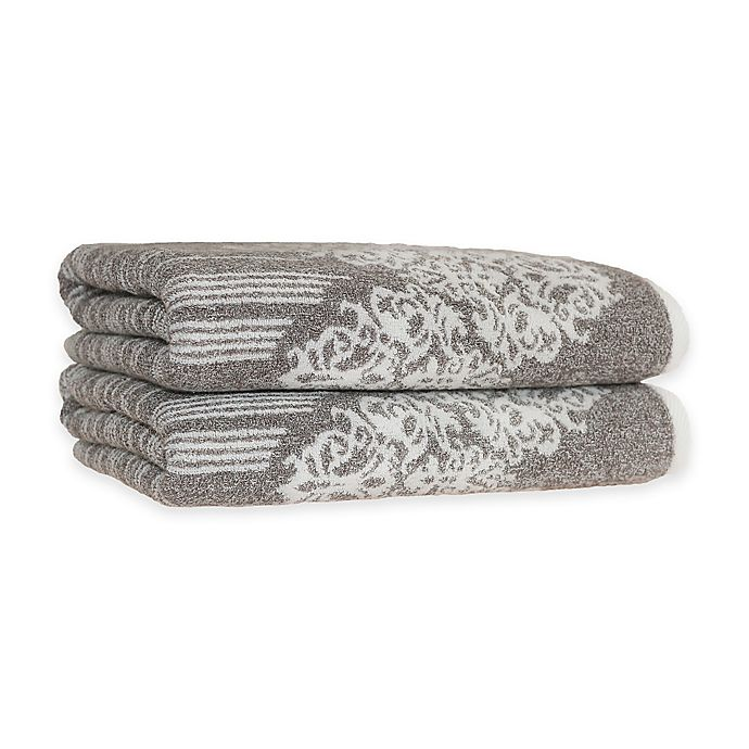 Alternate image 1 for Linum Home Textiles Gioia Turkish Cotton Bath Towels in Vintage Brown (Set of 2)