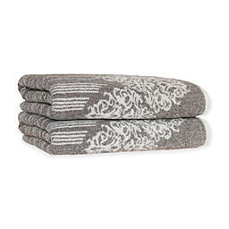 Linum Home Textiles Gioia Turkish Cotton Bath Towels in Vintage Brown (Set of 2)