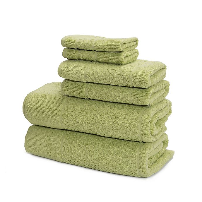 Alternate image 1 for Mei-tal Turkish Cotton Jacquard Bath Towels (Set of 6)