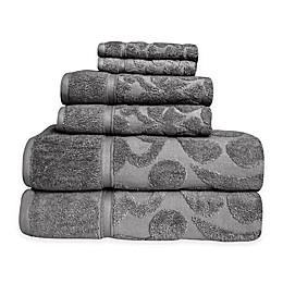 SALBAKOS Sculpted Jacquard 6-Piece Towel Set
