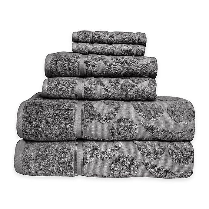 Alternate image 1 for SALBAKOS Sculpted Jacquard 6-Piece Towel Set