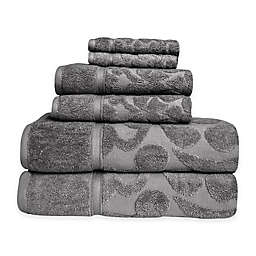 SALBAKOS Sculpted Jacquard 6-Piece Towel Set