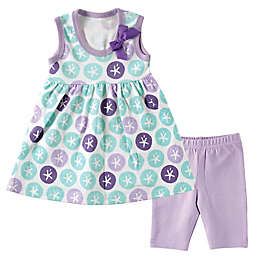 BabyVision® Hudson Baby® Size 9-12M Dress and Cropped Leggings Set in Sand Dollar