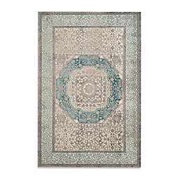 Safavieh Sofia Collection Medallion 4-Foot x 5-Foot 7-Inch Area Rug in Blue/Grey
