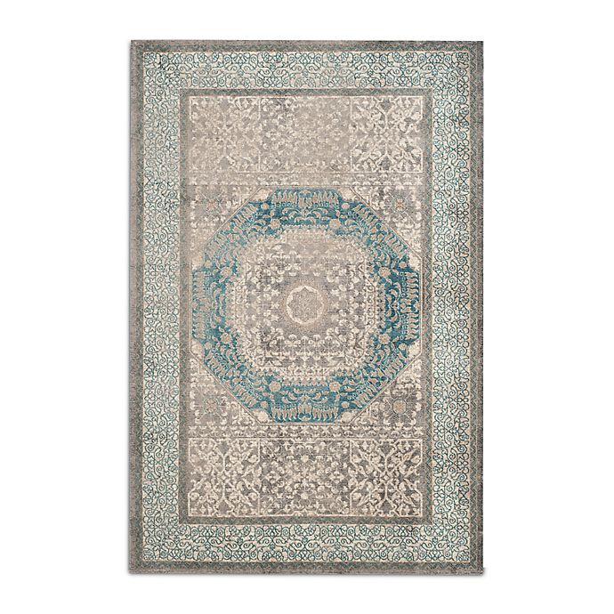 Alternate image 1 for Safavieh Sofia Collection Medallion 5-Foot 1--Inch x 7-Foot 7-Inch Area Rug in Blue/Grey