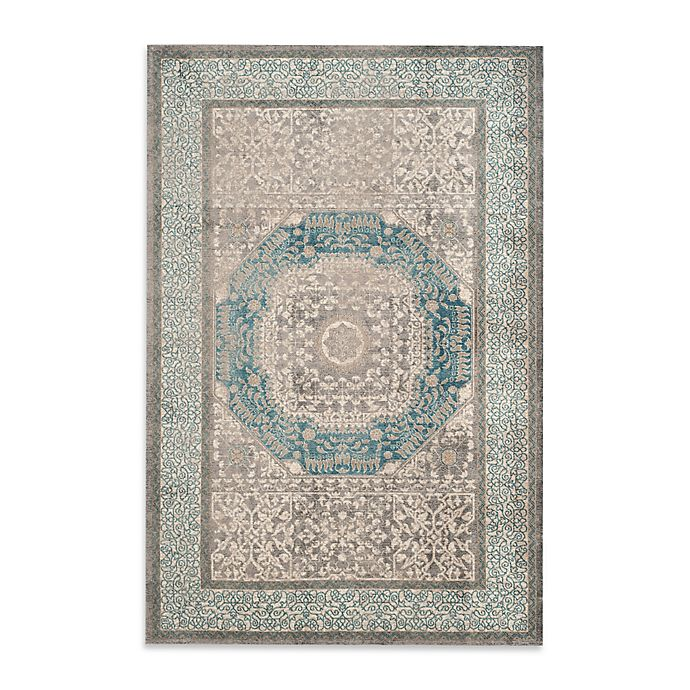 Alternate image 1 for Safavieh Sofia Collection Medallion 6-Foot 7-Inch Area Rug x 9-Foot 2-Inch Area Rug in Blue/Grey