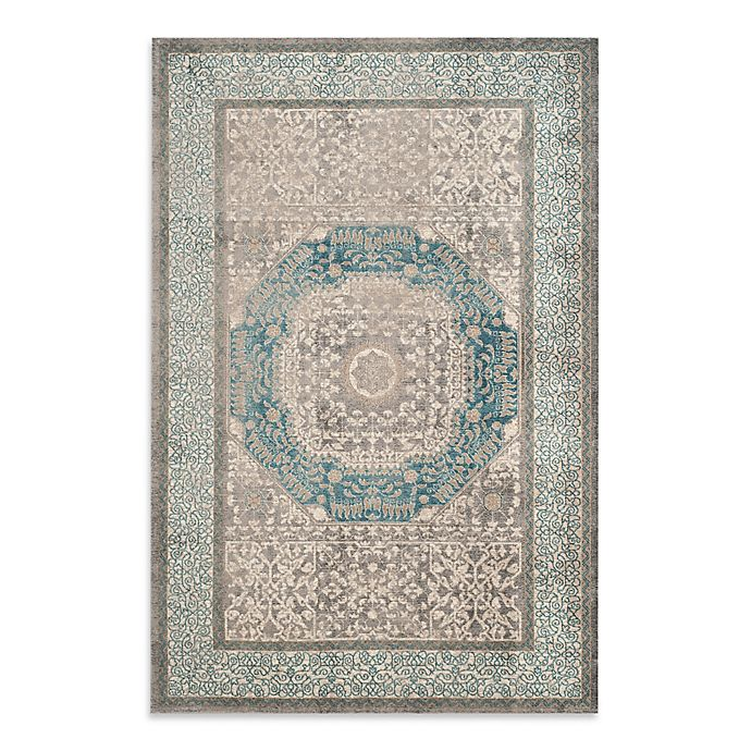 Alternate image 1 for Safavieh Sofia Collection Medallion 9-Foot x 12-Foot Area Rug in Blue/Grey