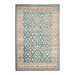 Safavieh Sofia Collection Diamond Border 4-Foot x 5-Foot 7-Inch Area Rug in Blue