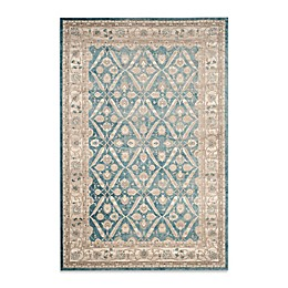 Safavieh Sofia Collection Diamond Border Rug in Blue