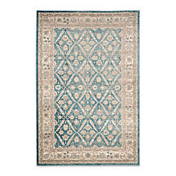 Safavieh Sofia Collection Diamond Border 6-Foot 7-Inch x 9-Foot 2-Inch Area Rug in Blue