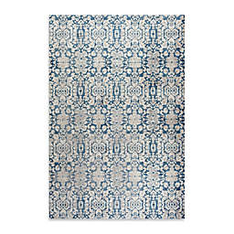 Safavieh Sofia Collection Damask 4-Foot x 5-Foot 7-Inch Area Rug in Blue