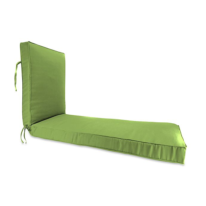 Alternate image 1 for Solid 80-Inch Boxed Edge Chaise Lounge Cushion in Sunbrella® Ginkgo