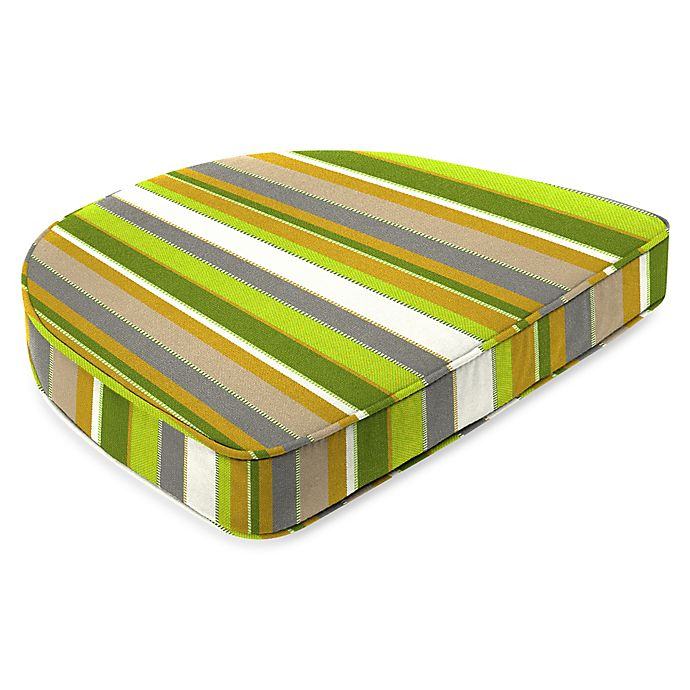 Alternate image 1 for Stripe 19.5-Inch Square Dining Cushion-Boxed in Sunbrella® Carousel Limelight