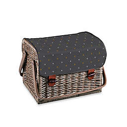 Picnic Time® Kabrio Wine and Cheese Basket in Brown