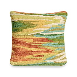 Liora Manne Frontporch Watercolor Square Throw Pillow