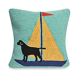 Liora Manne Frontporch Sailing Dog Square Throw Pillow