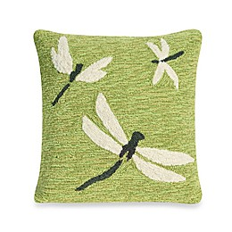 Liora Manne Frontporch Dragonfly Square Throw Pillow