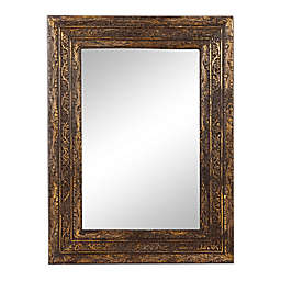 Ridge Road Decor Antique 35.5-Inch x 47-Inch Rectangular Wood Wall Mirror with Carved Acanthus