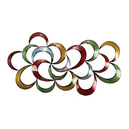 Ridge Road Décor Multi-Colored Abstract Metal Wall Sculpture