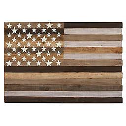Ridge Road Décor Wooden American Flag Wall Décor