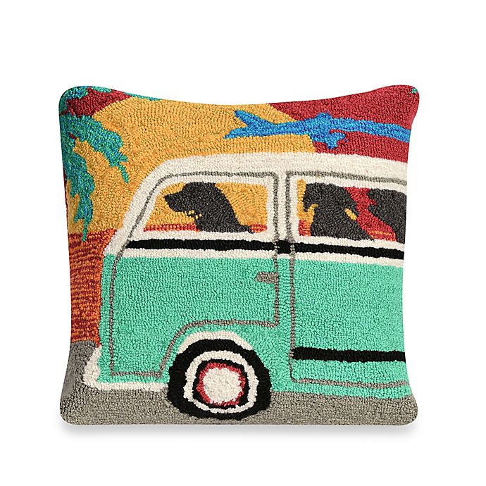 Alternate image 1 for Liora Manne Frontporch Beach Trip Sunset Square Throw Pillow