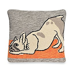 Liora Manne Frontporch Yoga Dog Square Throw Pillow