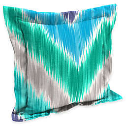 Chevron Square Outdoor Throw Pillow in Multi