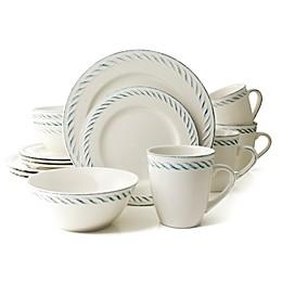 Thomson Pottery Nautical Dutch 16-Piece Dinnerware Set in White