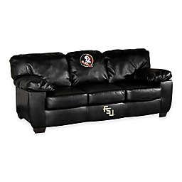 Florida State University Black Bonded Leather Classic Sofa