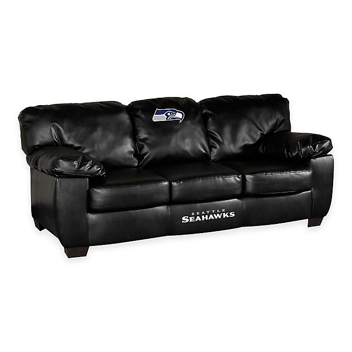 Bonded Leather Clic Sofa Bed Bath