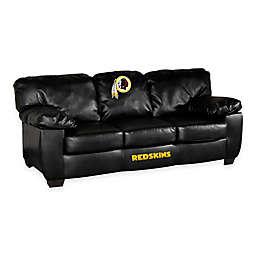 NFL Washington Redskins Black Leather Classic Sofa