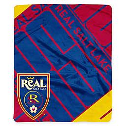 MLS Real Salt Lake Plush Raschel Throw Blanket