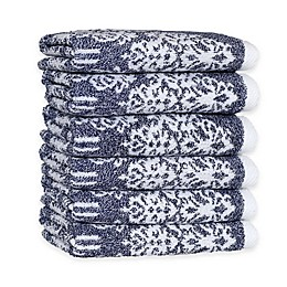 Linum Home Textiles Gioia Turkish Cotton Washcloths (Set of 6)