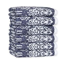 Linum Home Textiles Gioia Turkish Cotton Washcloths (Set of 6)