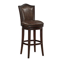 American Heritage Jordan Swivel Stool in Dark Brown