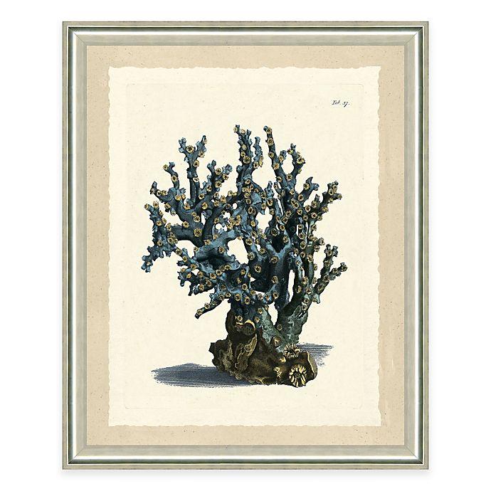 Alternate image 1 for Blue Coral Print II Giclée Framed Wall Art