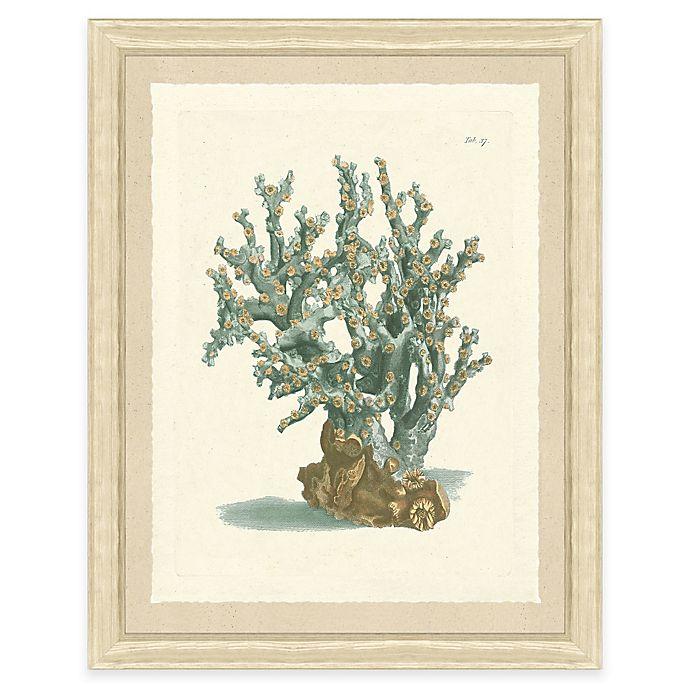 Alternate image 1 for Teal Coral Print I Giclée Framed Wall Art