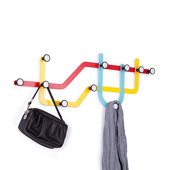 Alternate image 1 for Umbra® 10-Hook Subway Rack in Multicolor
