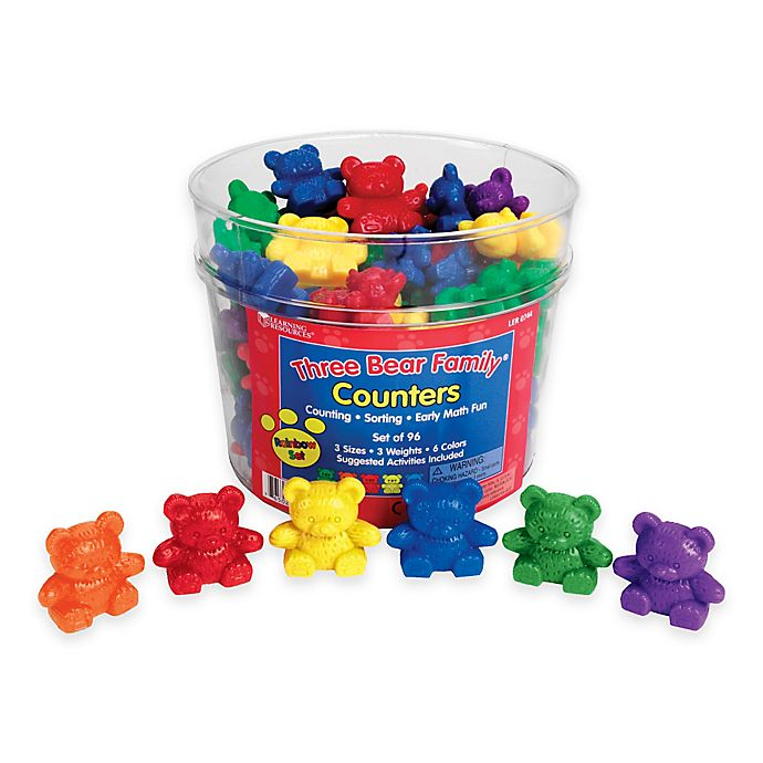 Alternate image 1 for Learning Resources Three Bear Family® Rainbow Counters