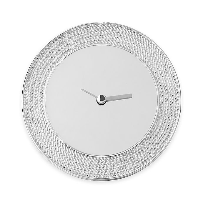 Alternate image 1 for Vera Wang Wedgwood® With Love Nouveau Silver Clock