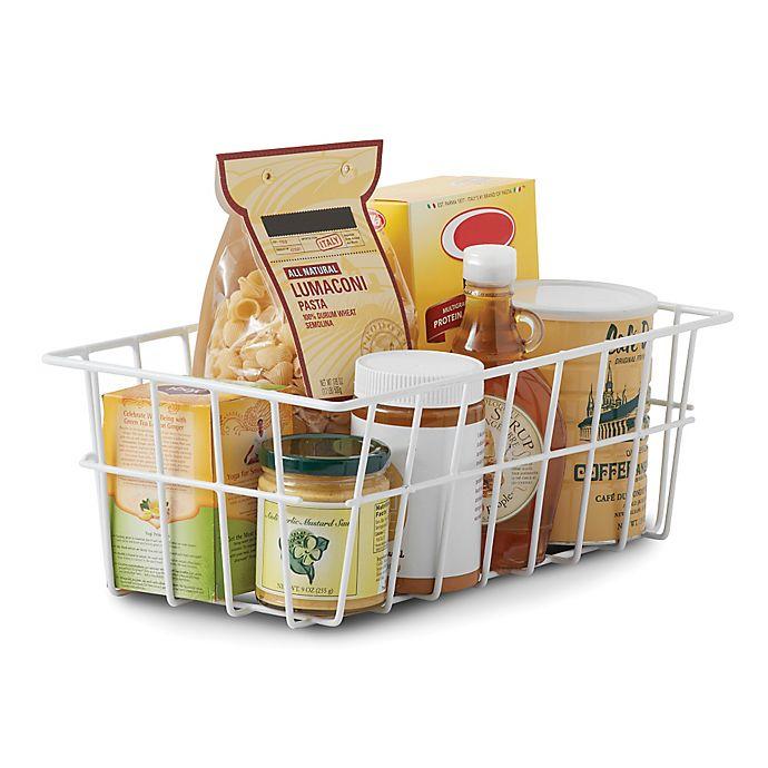 Salt Pantry Storage Basket In White Bed Bath And Beyond