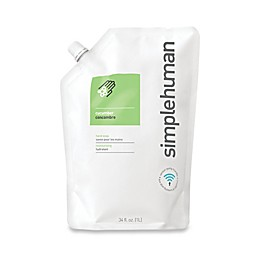 simplehuman® Moisturizing Liquid Hand Soap 34 oz. Refill Pouch in Cucumber