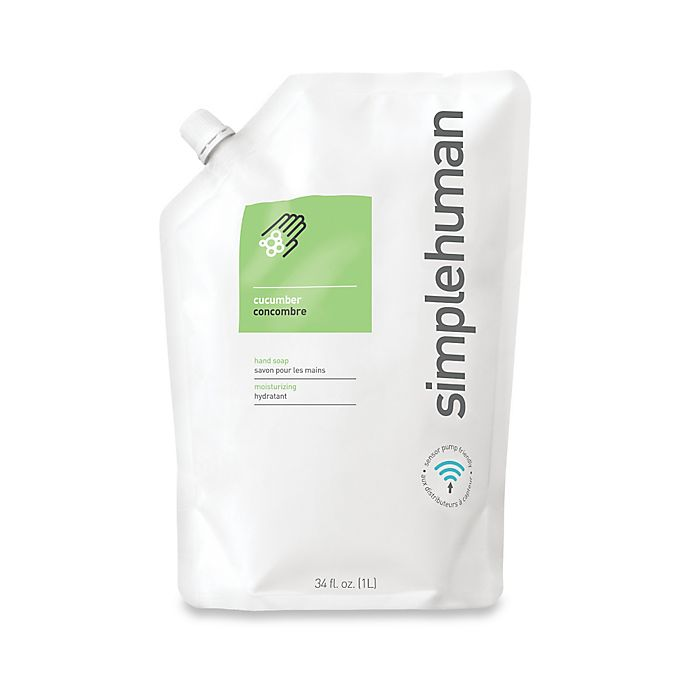 Alternate image 1 for simplehuman® Moisturizing Liquid Hand Soap 34 oz. Refill Pouch in Cucumber
